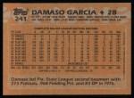 1988 Topps #241  Damaso Garcia  Back Thumbnail