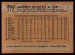 1988 Topps #117  James Steels  Back Thumbnail
