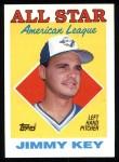 1988 Topps #395   -  Jimmy Key All-Star Front Thumbnail