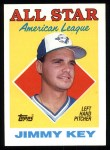 1988 Topps #395   -  Jimmy Key All-Star Front Thumbnail