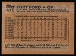 1988 Topps #612  Curt Ford  Back Thumbnail