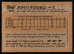 1988 Topps #188  John Russell  Back Thumbnail