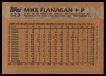 1988 Topps #623  Mike Flanagan  Back Thumbnail