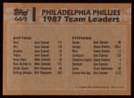 1988 Topps #669  Lance Parrish  Back Thumbnail