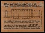 1988 Topps #354  Marc Sullivan  Back Thumbnail