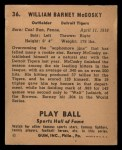 1941 Play Ball #36  Barney McCoskey  Back Thumbnail