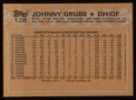 1988 Topps #128  Johnny Grubb  Back Thumbnail