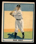1941 Play Ball #2  Max West  Front Thumbnail
