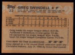 1988 Topps #22  Greg Swindell  Back Thumbnail