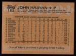 1988 Topps #153  John Habyan  Back Thumbnail