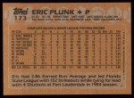 1988 Topps #173  Eric Plunk  Back Thumbnail