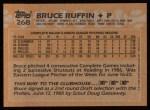 1988 Topps #268  Bruce Ruffin  Back Thumbnail