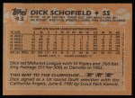 1988 Topps #43  Dick Schofield  Back Thumbnail