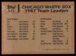 1988 Topps #321  Harold Baines  Back Thumbnail