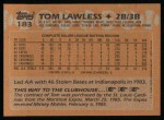 1988 Topps #183  Tom Lawless  Back Thumbnail