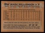 1988 Topps #571  Mark Williamson  Back Thumbnail
