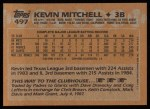 1988 Topps #497  Kevin Mitchell  Back Thumbnail