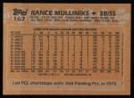1988 Topps #167  Rance Mulliniks  Back Thumbnail