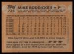 1988 Topps #725  Mike Boddicker  Back Thumbnail