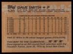 1988 Topps #520  Dave Smith  Back Thumbnail