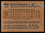 1988 Topps #382  Keith Miller  Back Thumbnail