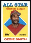 1988 Topps #400   -  Ozzie Smith All-Star Front Thumbnail