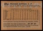 1988 Topps #211  Frank DiPino  Back Thumbnail
