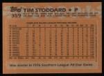 1988 Topps #359  Tim Stoddard  Back Thumbnail