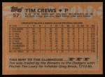 1988 Topps #57  Tim Crews  Back Thumbnail
