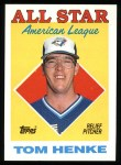 1988 Topps #396   -  Tom Henke All-Star Front Thumbnail