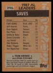 1988 Topps #396   -  Tom Henke All-Star Back Thumbnail