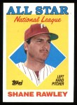 1988 Topps #406   -  Shane Rawley All-Star Front Thumbnail