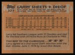 1988 Topps #327  Larry Sheets  Back Thumbnail
