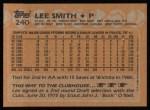 1988 Topps #240  Lee Smith  Back Thumbnail