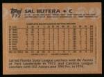 1988 Topps #772  Sal Butera  Back Thumbnail