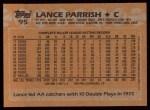 1988 Topps #95  Lance Parrish  Back Thumbnail