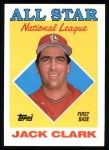 1988 Topps #397   -  Jack Clark All-Star Front Thumbnail