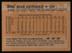 1988 Topps #642  Bob Dernier  Back Thumbnail