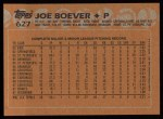 1988 Topps #627  Joe Boever  Back Thumbnail