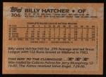1988 Topps #306  Billy Hatcher  Back Thumbnail