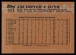 1988 Topps #521  Jim Dwyer  Back Thumbnail