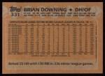 1988 Topps #331  Brian Downing  Back Thumbnail