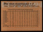 1988 Topps #166  Rick Rodriquez  Back Thumbnail