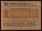 1988 Topps #589  Geno Petralli  Back Thumbnail