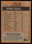 1988 Topps #404   -  Benny Santiago All-Star Back Thumbnail