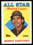 1988 Topps #404   -  Benny Santiago All-Star Front Thumbnail