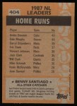 1988 Topps #404   -  Benny Santiago All-Star Back Thumbnail
