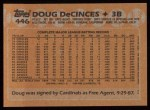 1988 Topps #446  Doug DeCinces  Back Thumbnail
