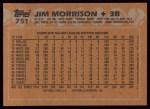 1988 Topps #751  Jim Morrison  Back Thumbnail