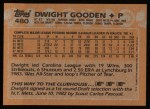 1988 Topps #480  Dwight Gooden  Back Thumbnail